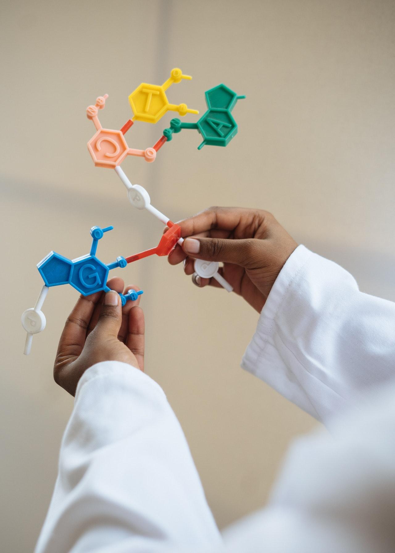 schemat cząsteczek chemicznych